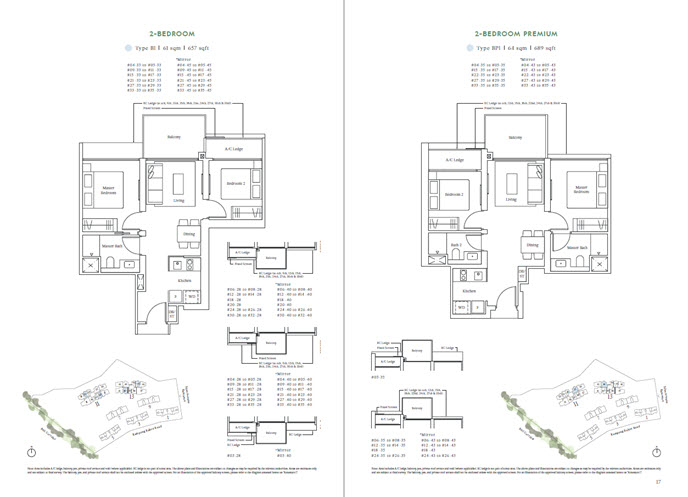 Floor Plans and Layout by UOL Group for Avenue South Residence Silat Avenue
